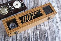"""Шкатулка для часов """"Agent 007"""" на 4 отдела, Вип подарок руководителю мужчине"""