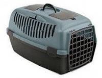 Переноска для транспортировки собак и кошек Stefanplast Gulliver 3 (сине/стальной/коричневый) 61х40х38 см.
