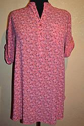Женская туника   с мелким цветочком    больших размеров