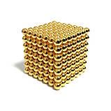 Головоломка Нео куб Neo Cube 5 мм Магнитный Золотой, фото 5