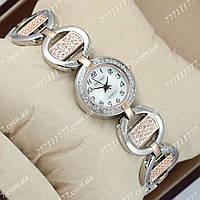 Часы женские наручные Sputnik 995430 Gold-Silver/White