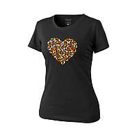 Футболка женская Helikon-Tex® Womens T-Shirts Chameleon Heart Black