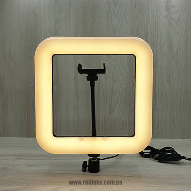 Многофункциональная квадратная LED лампа D35 Beauty Live Square Light 28 см, фото 2