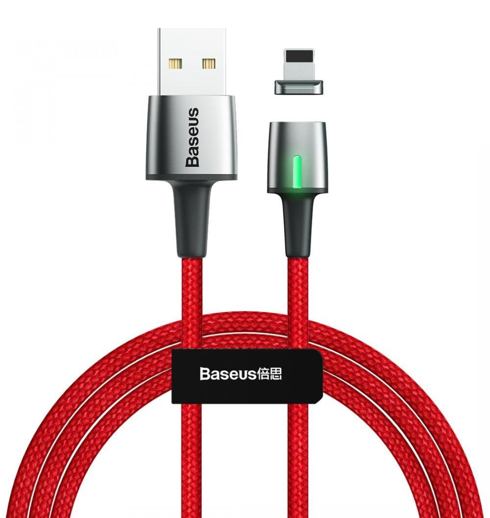 Кабель магнитный Baseus Zinc Magnetic USB - Lightning 1 м 2.4 А Красный (CALXC-A09)