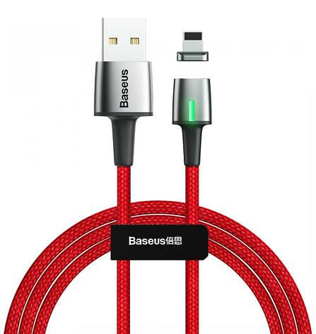Кабель магнитный Baseus Zinc Magnetic USB - Lightning 1 м 2.4 А Красный (CALXC-A09), фото 2