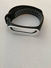 Ремешок Xiaomi Mi Band 3/4 SPORT Black-gray-white