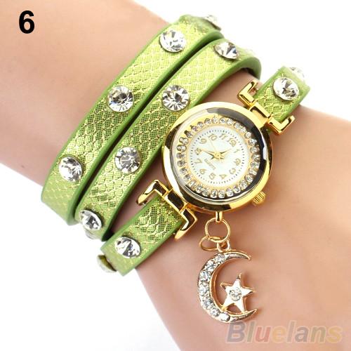 Часы женские Moon green