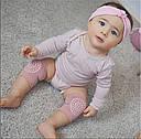 Наколенники для малышей антискользящие H-0550 Розовые, фото 3