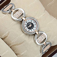 Часы женские наручные Sputnik 995430 Gold-Silver/White-Black