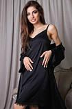 Комплект для сна халат и ночная рубашка, фото 4