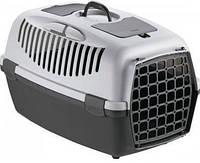 Переноска для небольших собак и кошек Stefanplast Gulliver 2 (тёмно-серый/серый) 55*36*35см.