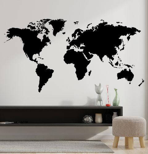 Наклейка на стену Карта мира (карта мира из оракала, стікер мапа)