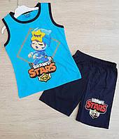 """Детский костюм для мальчика с шортами""""Brawl stars"""" размер 5-8 лет, цвет уточняйте при заказе"""