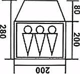 Палатка трехместная Coleman 1011, фото 5