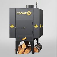 Печь дровяная Canada с теплоаккумулятором и защитным декоративным кожухом