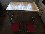 Стол туристический GreenCamp, бамбук,алюминий, 4 стула, GC-9001, фото 4