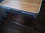 Стол туристический GreenCamp, бамбук,алюминий, 4 стула, GC-9001, фото 6