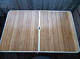 Стол туристический GreenCamp, бамбук,алюминий, 4 стула, GC-9001, фото 7
