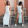 Женское платье миди на лето в спортивном стиле