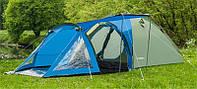 Палатка туристическая 4-ми местная с тамбуром Presto Soliter 4 сине-зеленая