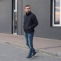 Чоловіча куртка (вітровка) темно-синього кольору. Батал