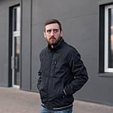 Чоловіча куртка (вітрівка) темно-синього кольору. Великого розміру, фото 2