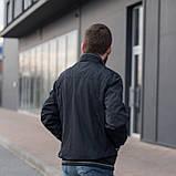 Чоловіча куртка (вітрівка) темно-синього кольору. Великого розміру, фото 3