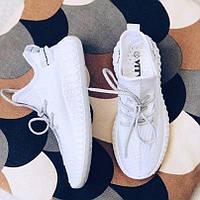 Кроссовки белые текстиль, фото 1