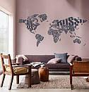 Большая наклейка на стену Карта мира из названий стран, текстовая карта мира, фото 6