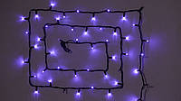 Гирлянда внешняя DELUX STRING 100LED 10m (2*5m) 20 flash фиолет/черн IP44 EN