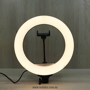 Многофункциональная кольцевая LED лампа Dimmable portable с пультом управления (Black), фото 3