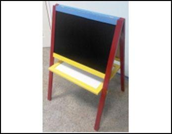 Детский мольберт для рисования двухсторонний 60 х 40 см (цветной) 69974