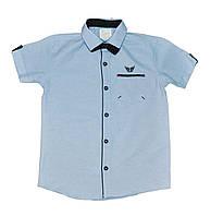 Рубашка для мальчика (бабочка в комплекте) (6-10 лет) Турция купить от склада оптом 7 км