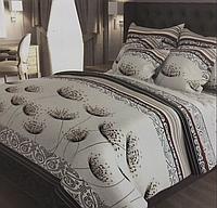 """Семейное постельное белье евро-размер с двумя пододеяльниками (13058) хлопок """"Ранфорс"""" KRISPOL Украина"""