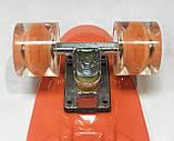 Пенниборд (скейтборд) колёса PU Светятся Profi MS 0749 - 5 (оранжевый), фото 2