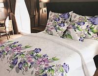 """Семейное постельное белье евро-размер с двумя пододеяльниками (13072) хлопок """"Ранфорс"""" KRISPOL Украина"""