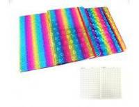Блокнот А5, 80 листов,клетка  голограммный на резинке, ассорти (119324)