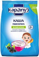 Каша безмолочная пшеничная с ягодами,минералами,витаминами и пребиотиками 5м+ 250г Карапуз Украина 1062129
