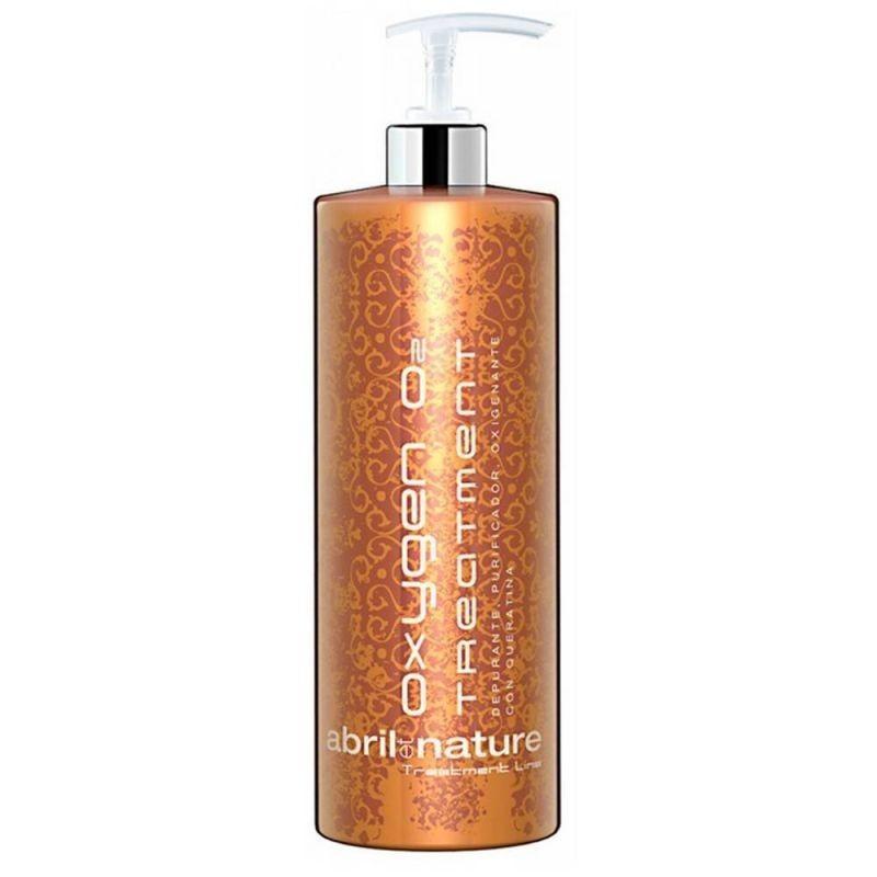 Шампунь для чувствительной кожи головы и восстановления волос Abril Et Nature Oxigen O2 Treatment Line 1000 мл