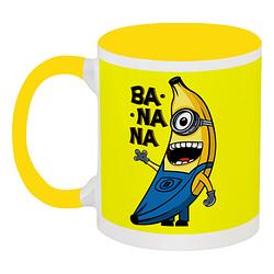 Кружка Fat Cat Миньон - Banana (жёлтая)