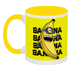 Кружка Fat Cat Миньон - Banana, banana, banana, banana (жёлтая)