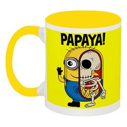 Кружка Fat Cat Миньон - Papaya! (жёлтая)