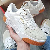 Женские кроссовки Puma Cali Sport White/Beige, пума кали, жіночі кросівки пума калі