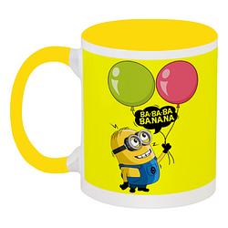 Кружка Fat Cat Миньон - Ba-ba-ba Banana (жёлтая)