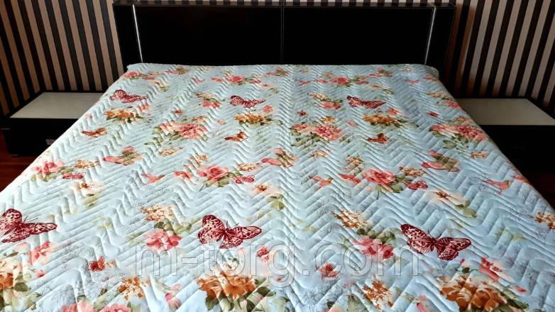 """""""Бабочки"""" Летнее одеяло покрывало двуспальный размер 175/210"""