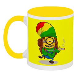 Кружка Fat Cat Миньон - Растаман (жёлтая)
