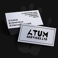 Печать визиток 90х50   1 000шт   Матовая ламинация с 2-х сторон