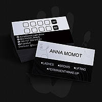 Печать визиток 90х50   500шт   Глянцевая ламинация с 2-х сторон