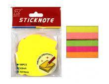 """Блок бумаги для записей с липким слоем, 76х76 мм,100листов """"в форме листьев""""(121747)"""