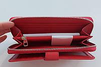 Жіночий шкіряний гаманець Balisa 3-925 червоний шкіряний гаманець з візитницею на магніті, фото 2